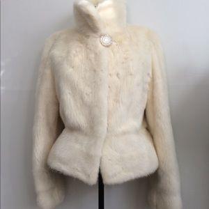 Jackets & Blazers - Rare White Real Mink Coat.